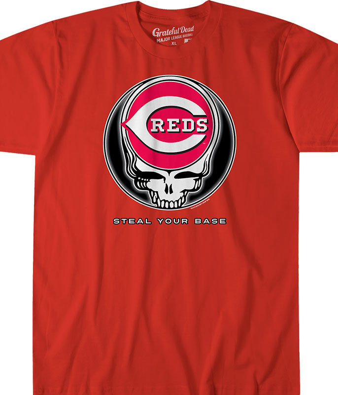 Cincinnati Reds Steal Your Base Red Athletic T-Shirt