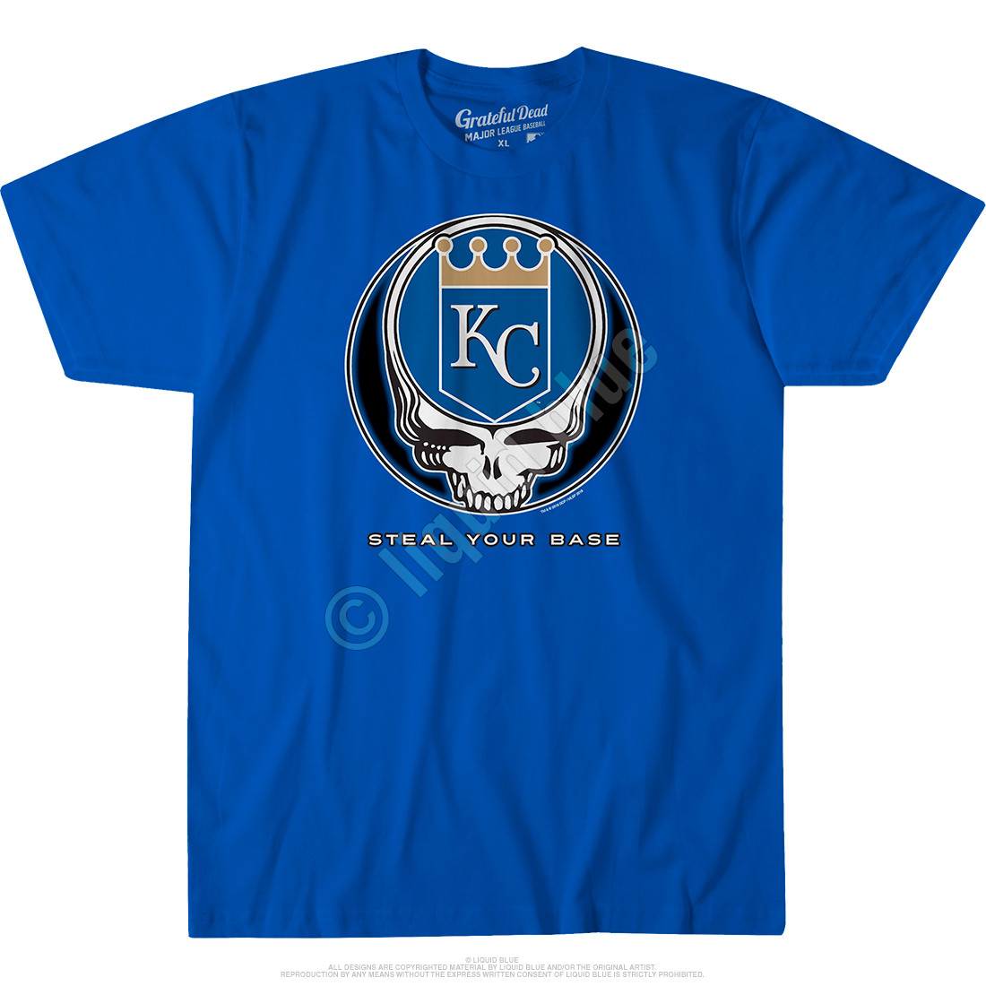 Kansas City Royals Steal Your Base Blue Athletic T-Shirt