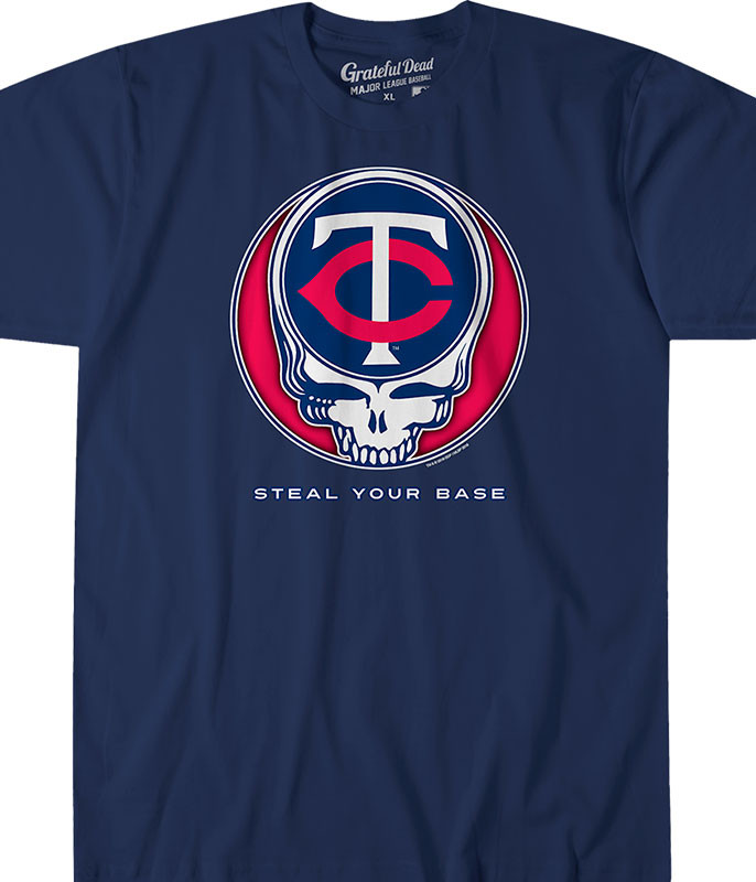 MLB Minnesota Twins GD Steal Your Base Navy Athletic T-Shirt Tee Liquid Blue