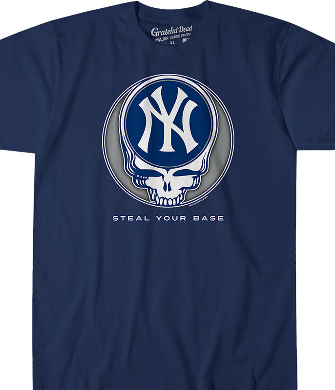 MLB New York Yankees GD Steal Your Base Navy Athletic T-Shirt Tee Liquid Blue