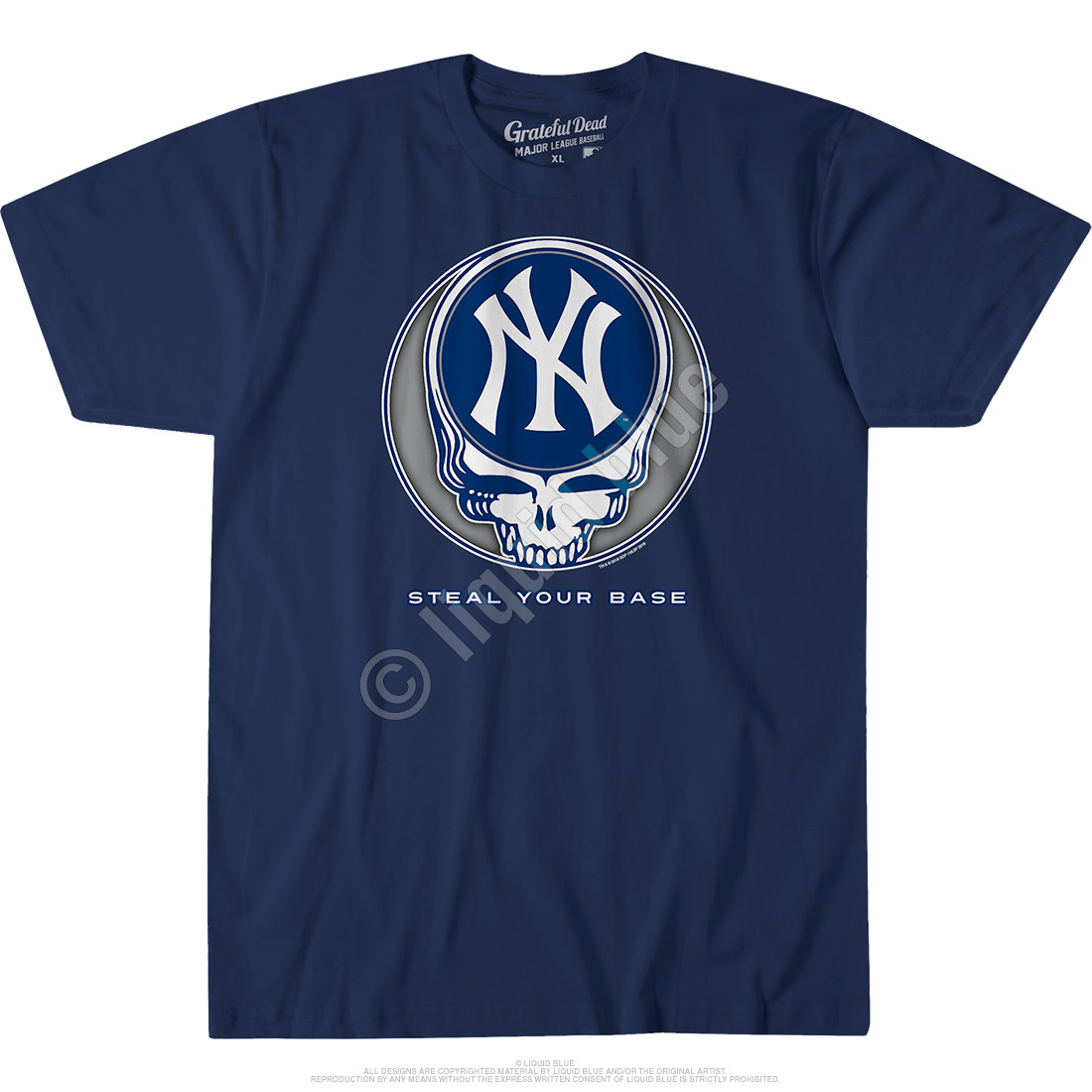 c0d73cfa New York Yankees Steal Your Base Navy Athletic T-Shirt