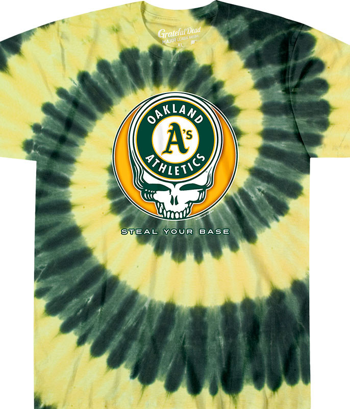 OAKLAND ATHLETICS STEAL YOUR BASE TIE-DYE T-SHIRT