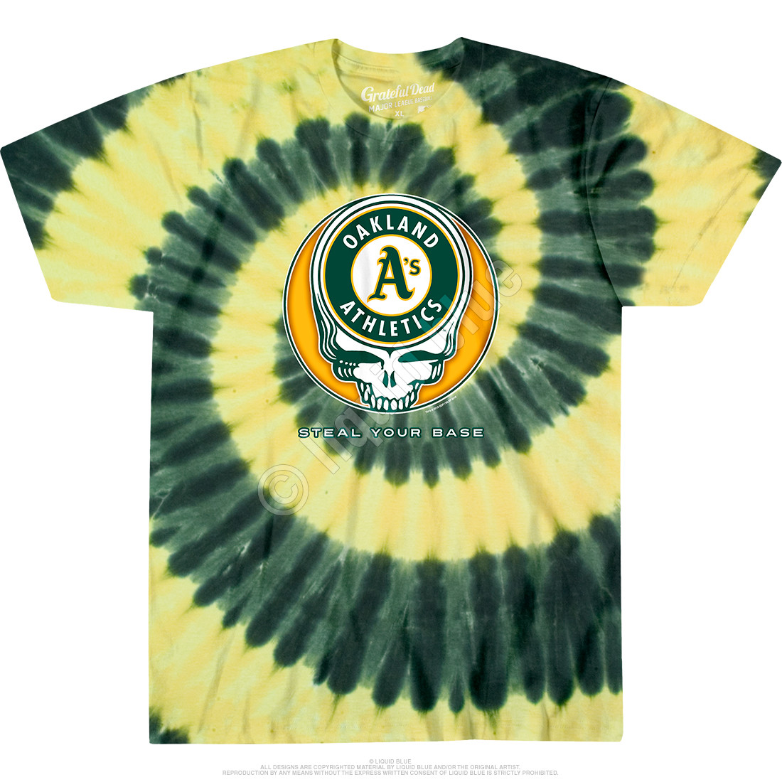 Oakland Athletics Steal Your Base Tie-Dye Tie-Dye T-Shirt