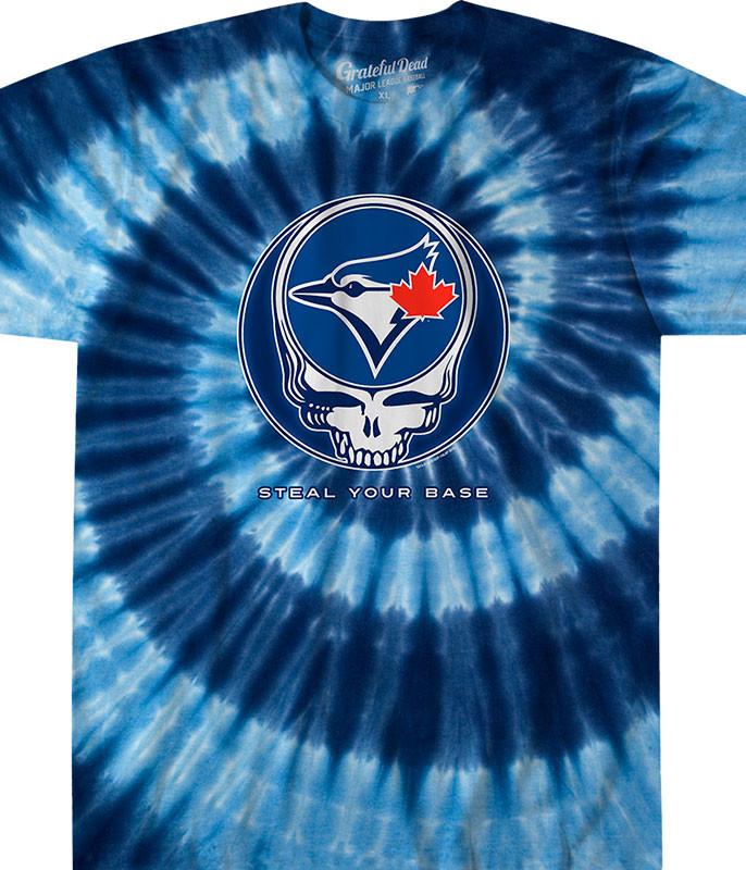 MLB Toronto Blue Jays GD Steal Your Base Tie-Dye T-Shirt Tee Liquid Blue