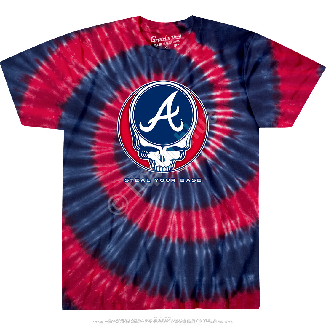 Atlanta Braves Steal Your Base Tie-Dye T-Shirt