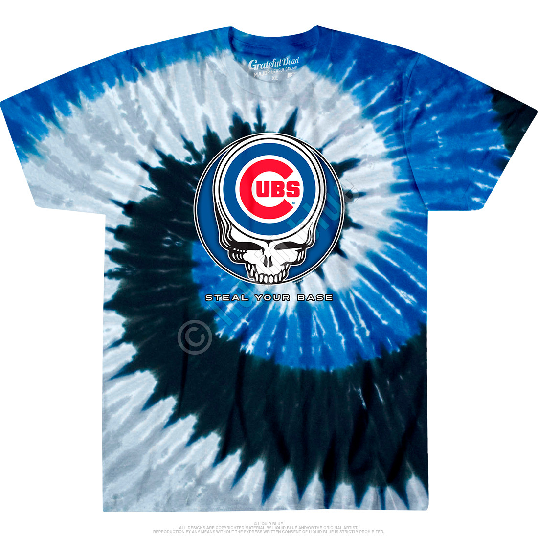 Chicago Cubs Steal Your Base Tie-Dye T-Shirt