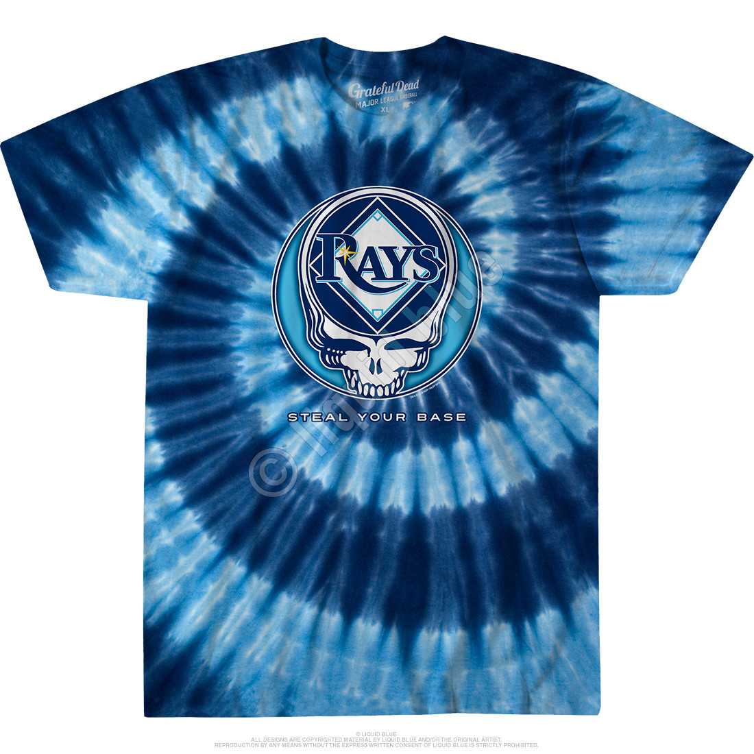 Tampa Bay Rays Steal Your Base Tie-Dye T-Shirt