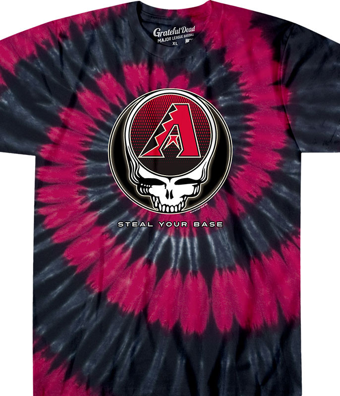 MLB Arizona Diamondbacks GD Steal Your Base Tie-Dye T-Shirt Tee Liquid Blue
