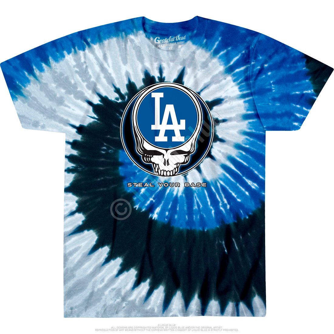 Los Angeles Dodgers Steal Your Base Tie-Dye T-Shirt