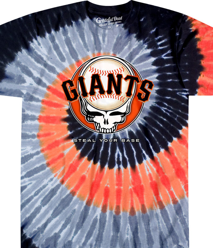 MLB San Francisco Giants GD Steal Your Base Tie-Dye T-Shirt Tee Liquid Blue