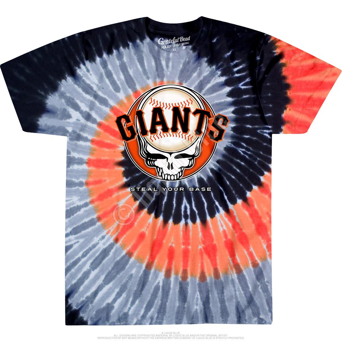 San Francisco Giants Steal Your Base Tie-Dye T-Shirt