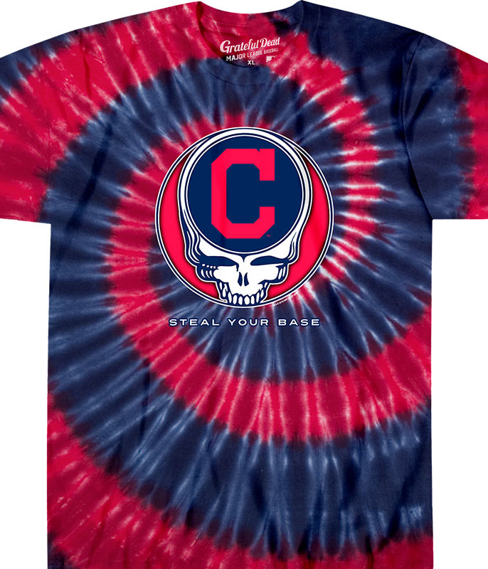 Cleveland Indians Steal Your Base Tie-Dye T-Shirt