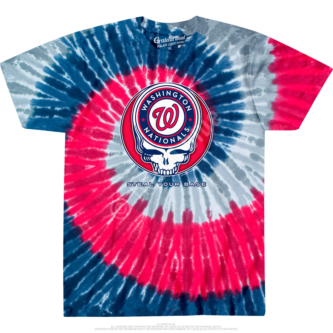 Washington Nationals Steal Your Base Tie-Dye T-Shirt