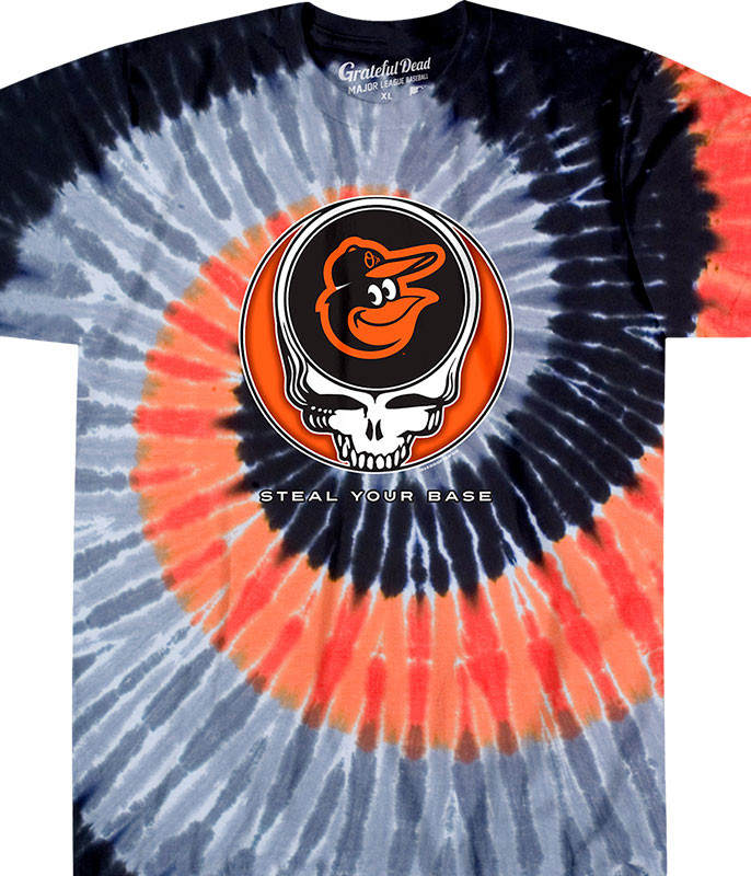 Baltimore Orioles Steal Your Base Tie-Dye T-Shirt 773630cea