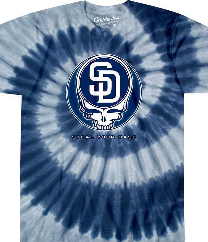 MLB San Diego Padres GD Steal Your Base Tie-Dye T-Shirt Tee Liquid Blue