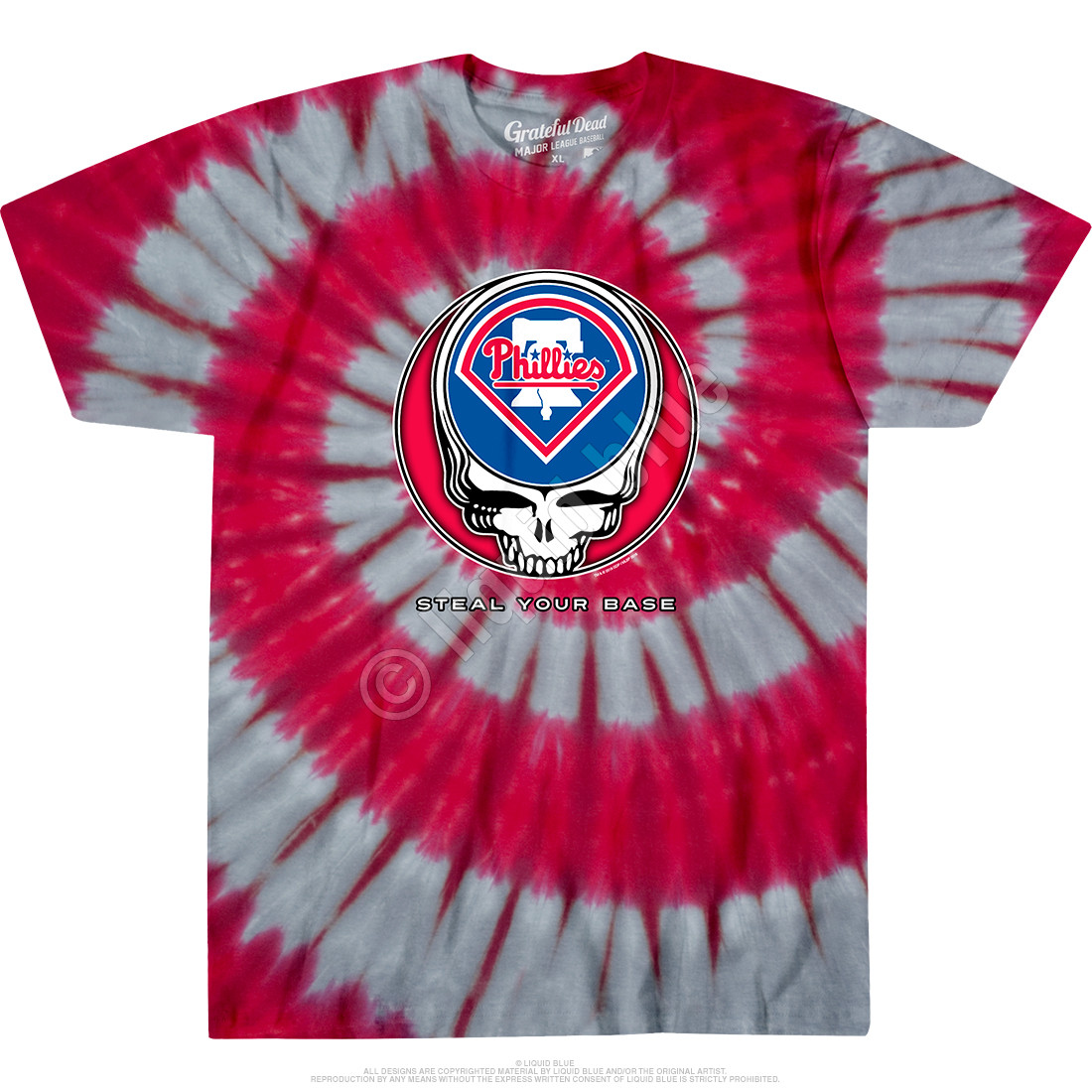 Philadelphia Phillies Steal Your Base Tie-Dye T-Shirt