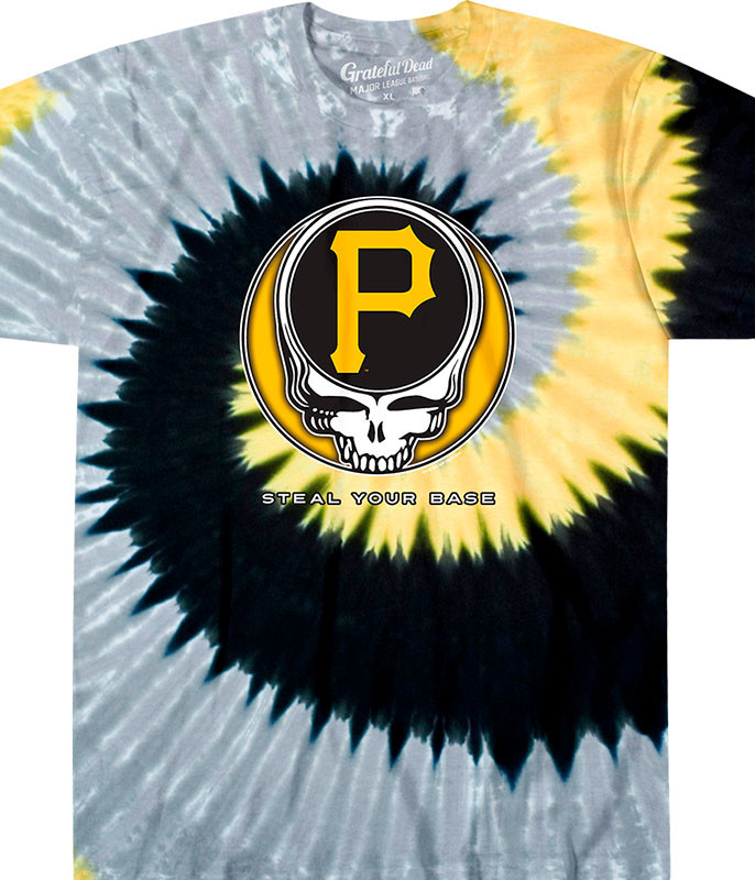MLB Pittsburgh Pirates GD Steal Your Base Tie-Dye T-Shirt Tee Liquid Blue