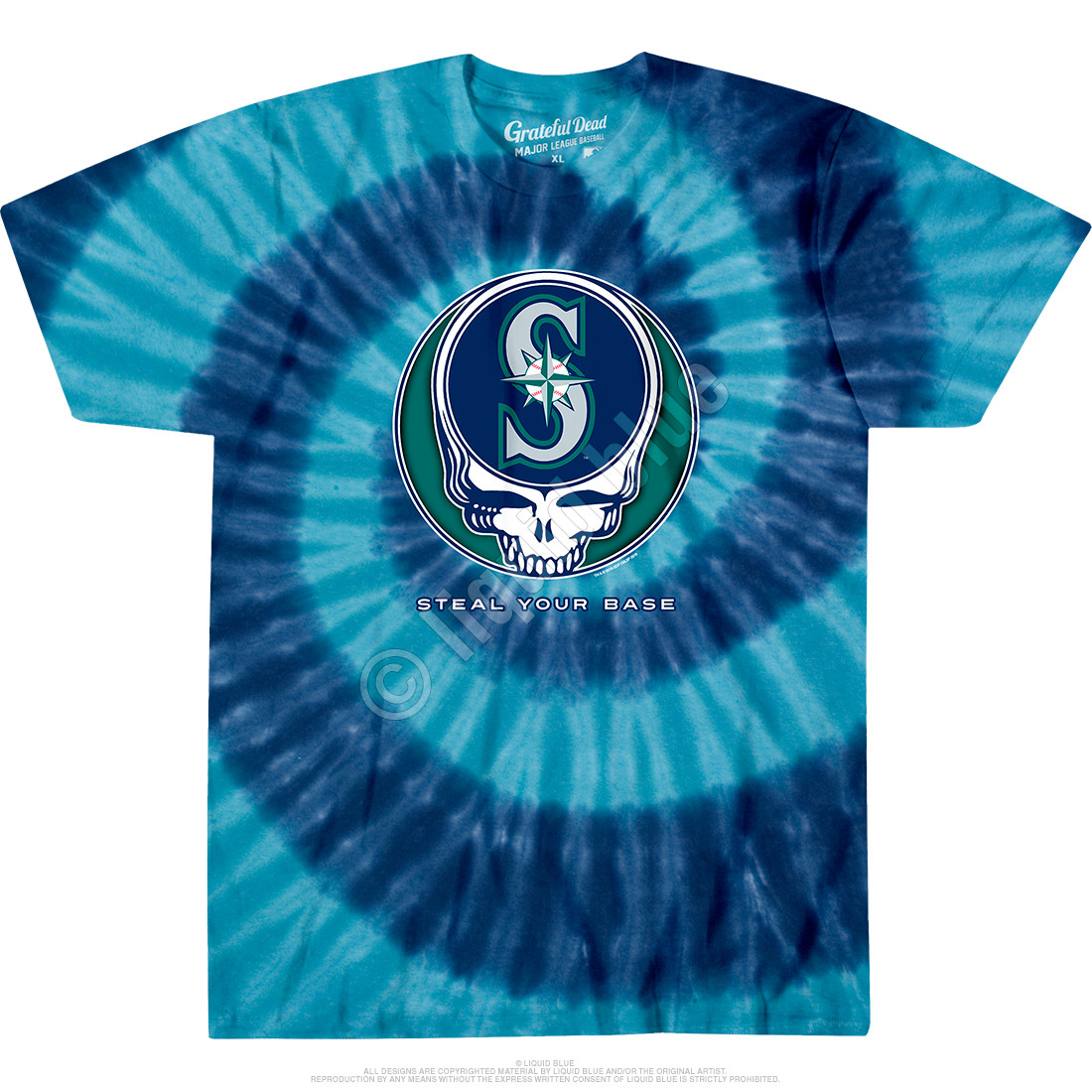 Seattle Mariners Steal Your Base Tie-Dye T-Shirt