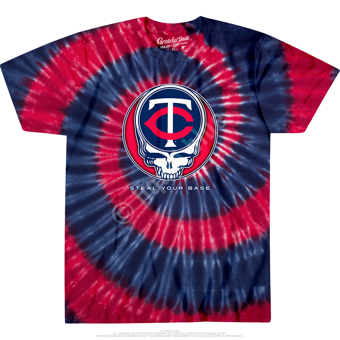 Minnesota Twins Steal Your Base Tie-Dye T-Shirt