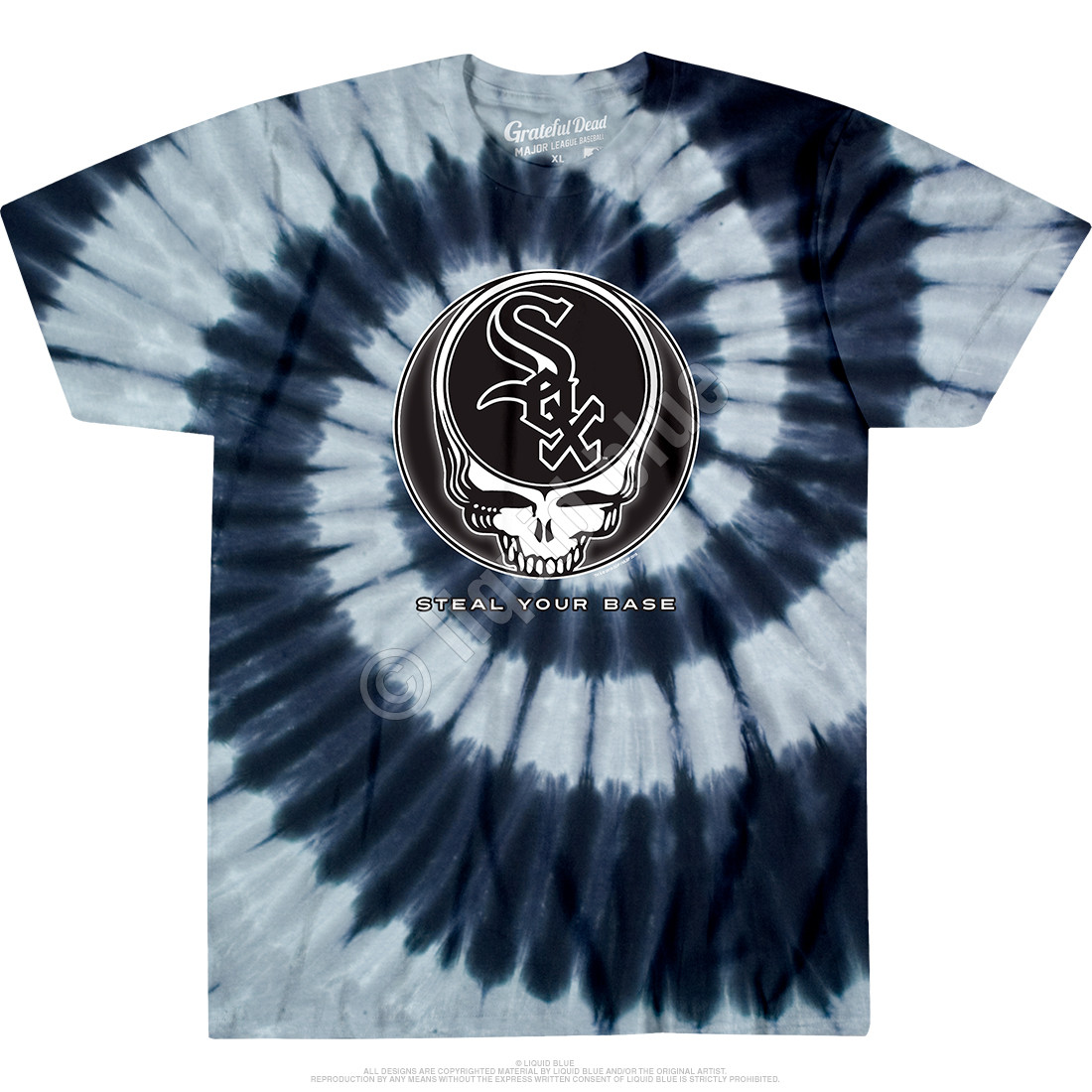 Chicago White Sox Steal Your Base Tie-Dye T-Shirt