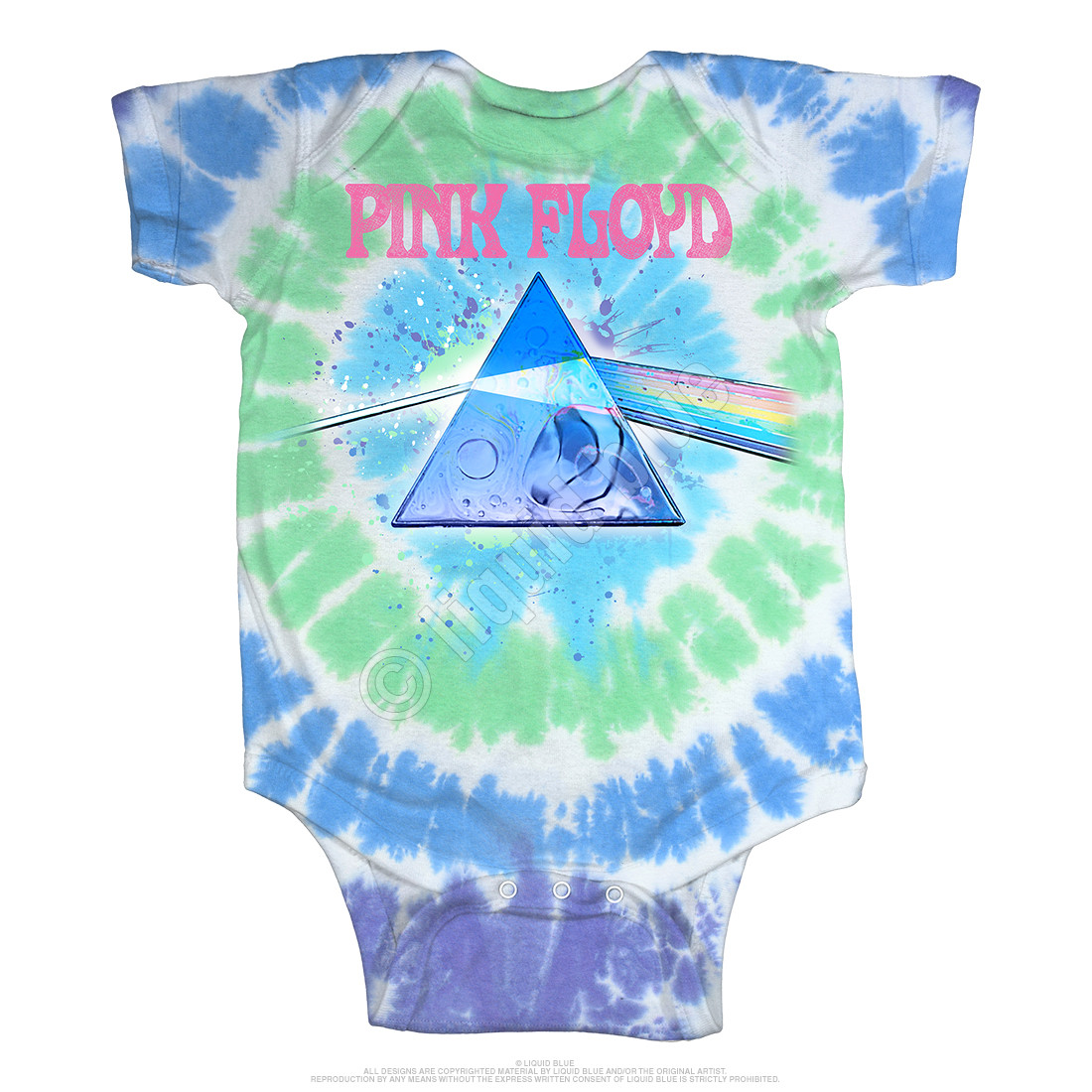 Dark Side Oil Paint Tie-Dye Onesie