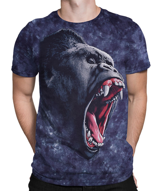 Gorilla Power Tie-Dye T-Shirt