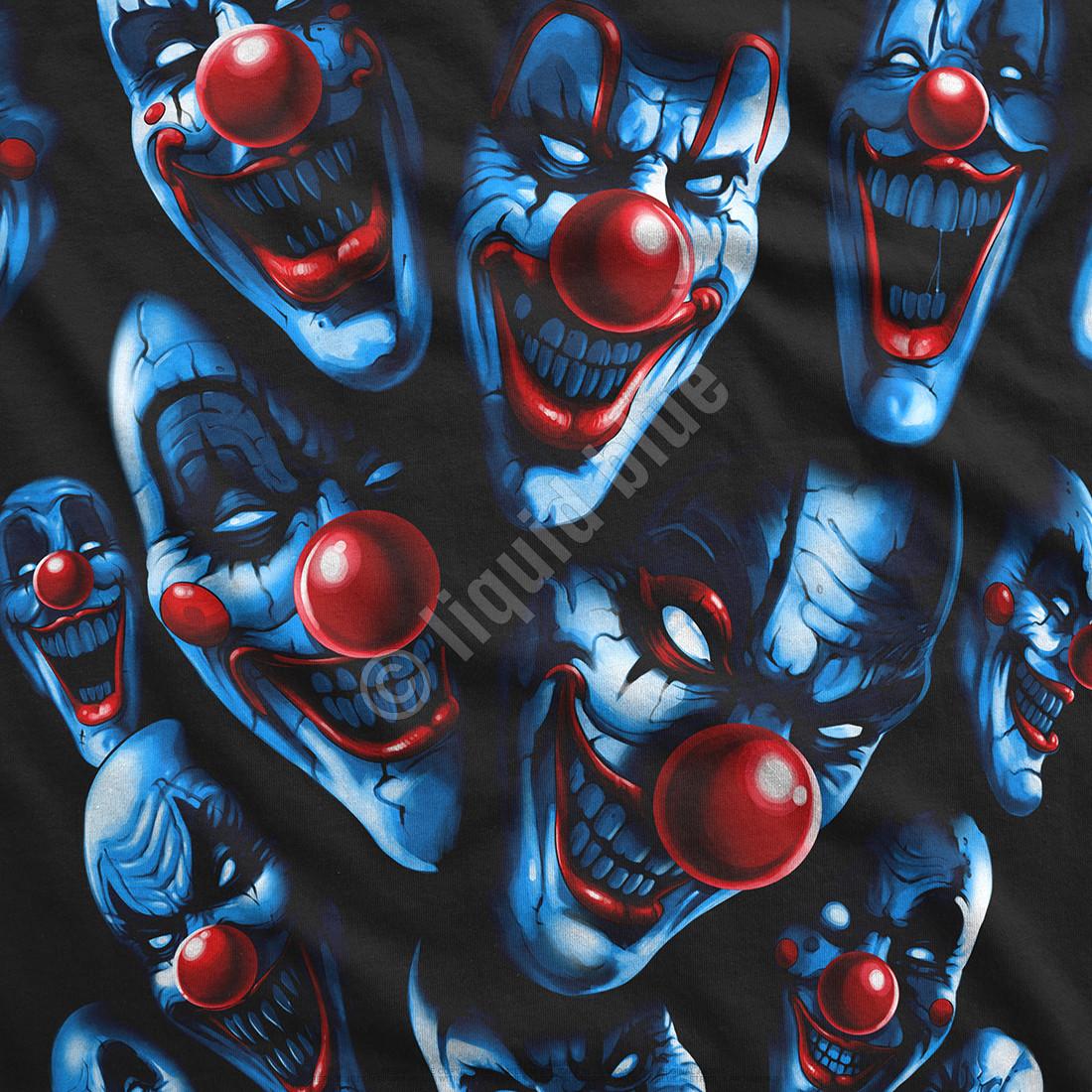 All Over Clowns Black T-Shirt