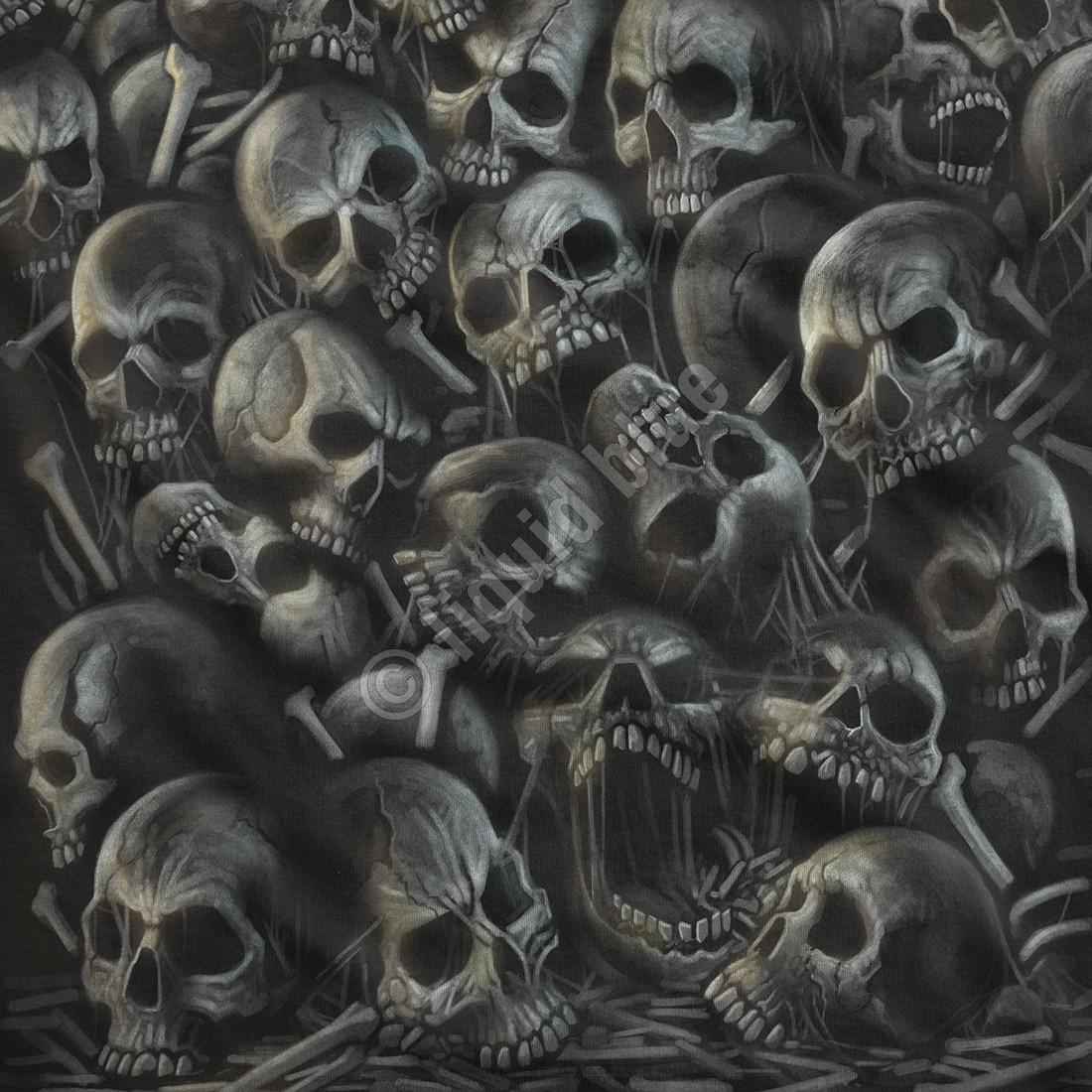 All Over Skulls Black T-Shirt
