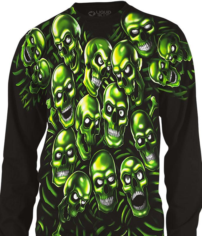 Skull Pile Black Long Sleeve T Shirt
