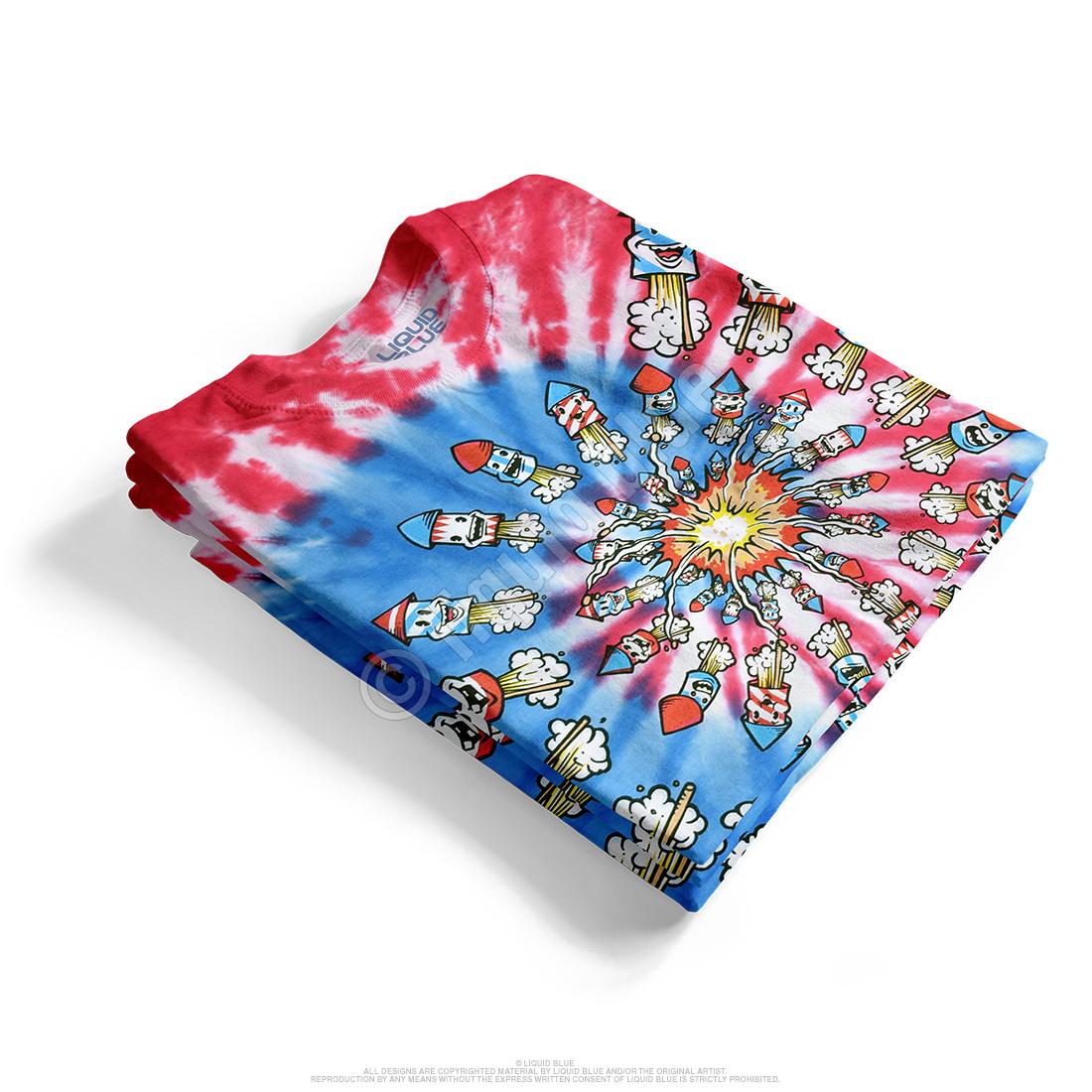 Fireworks Spiral Tie-Dye T-Shirt