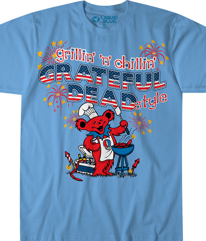 Grillin n Chillin Light Blue T-Shirt