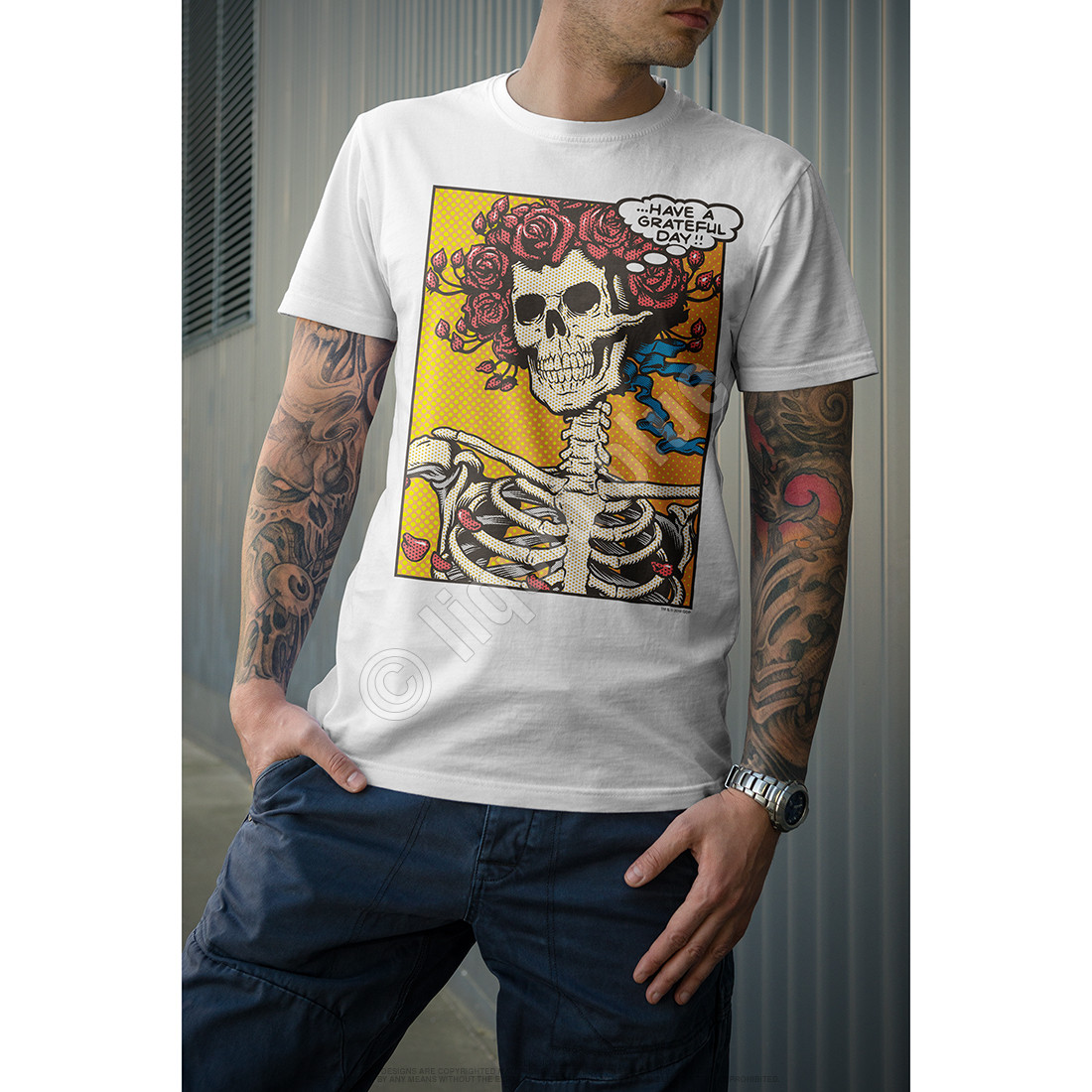 Pop Art Bertha White T-Shirt