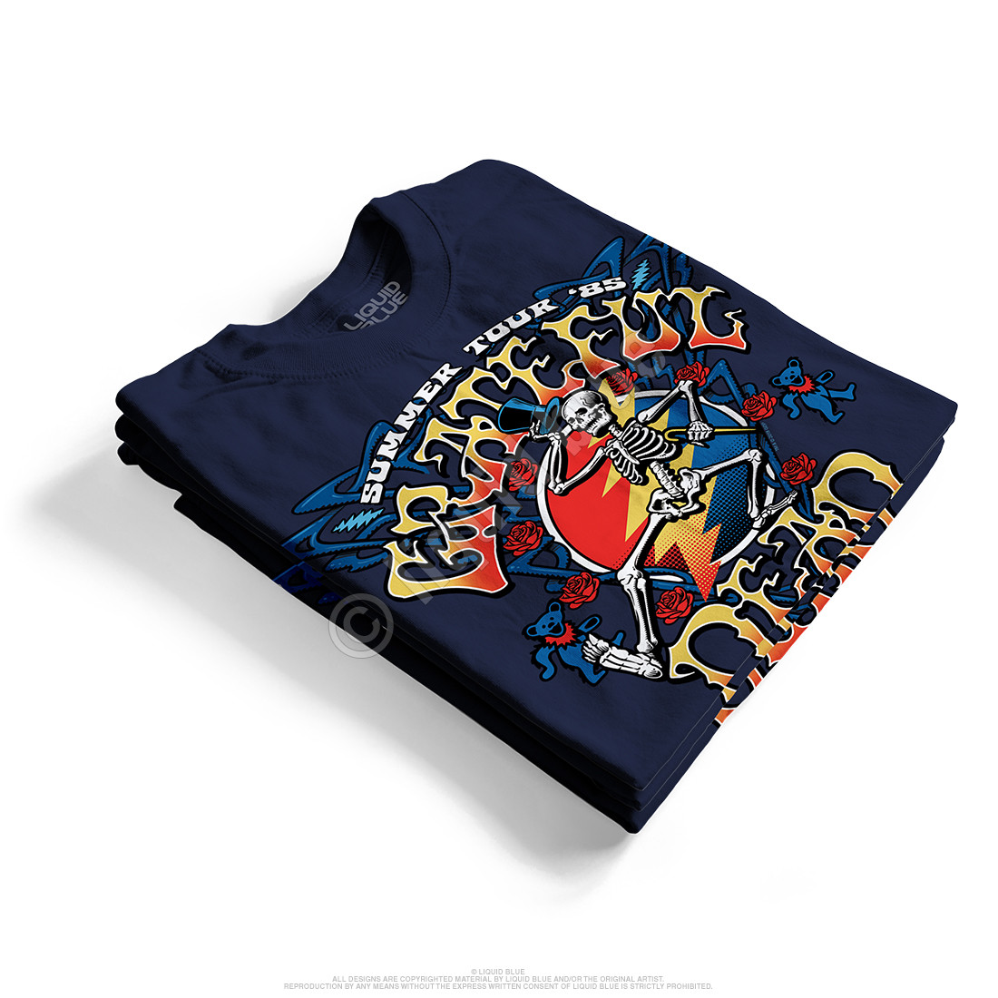Strutting Skelly Navy T-Shirt