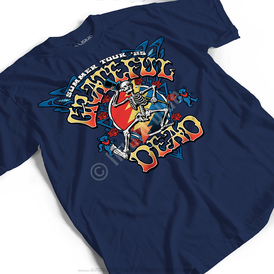 Strutting Skelly Navy T-Shirt