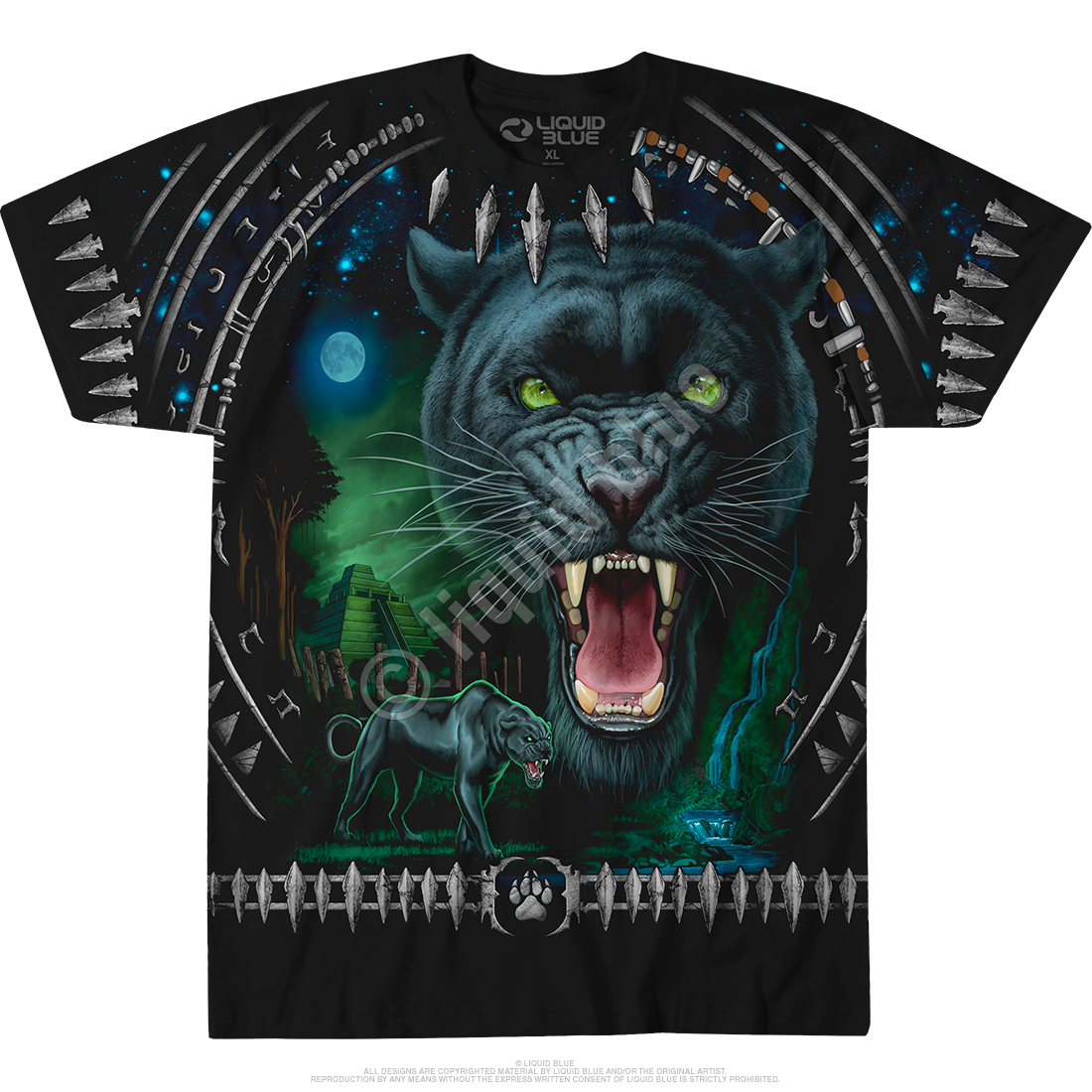 Tribal Panther Black T-Shirt
