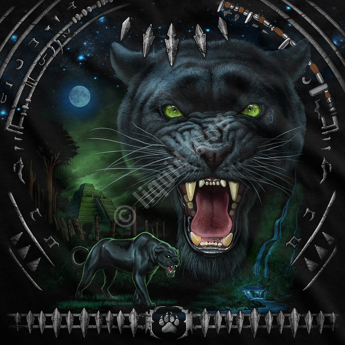 Tribal Panther Black T-Shirt