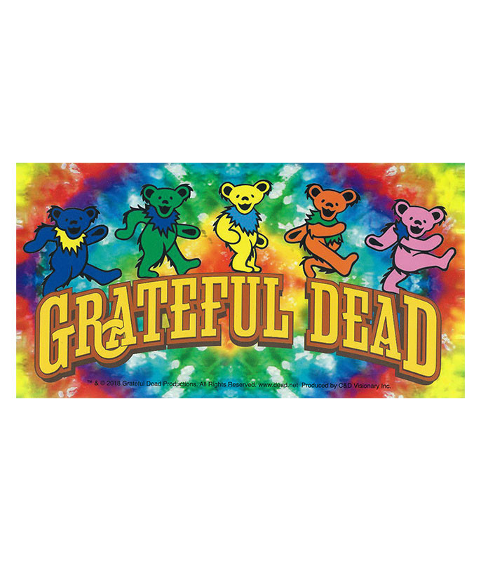 Grateful Dead Dancing Bears Tie Dye Sticker