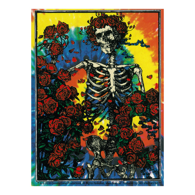 Grateful Dead Woodcut Tie Dye Sticker