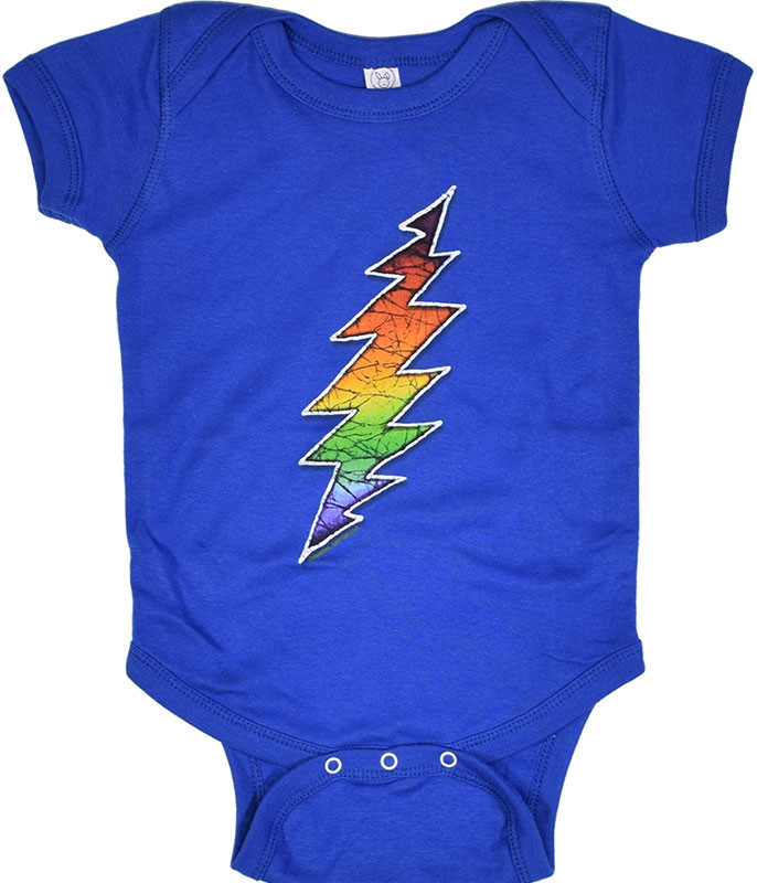 Grateful Dead GD Bolt Blue Onesie