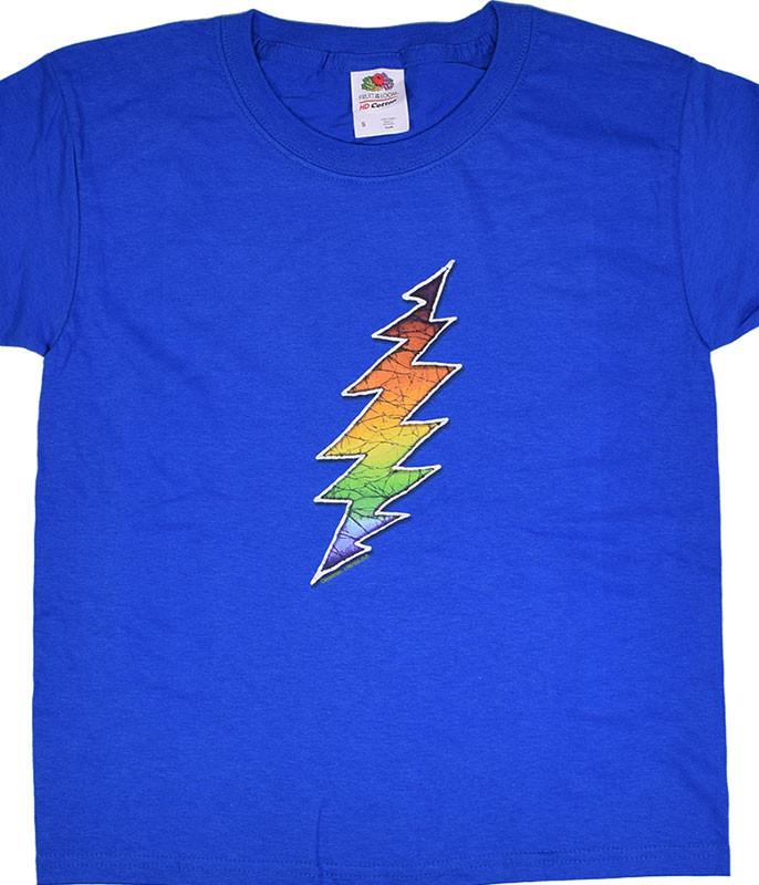 Grateful Dead GD Bolt Youth Blue T-Shirt Tee
