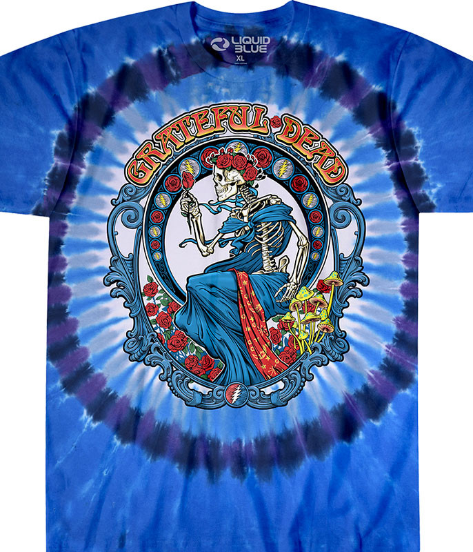 Grateful Dead Vintage Bertha Tie-Dye T-Shirt Tee Liquid Blue