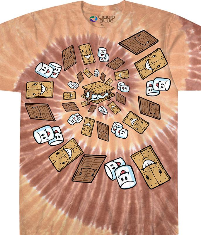 Smores Spiral Tie-Dye T-Shirt
