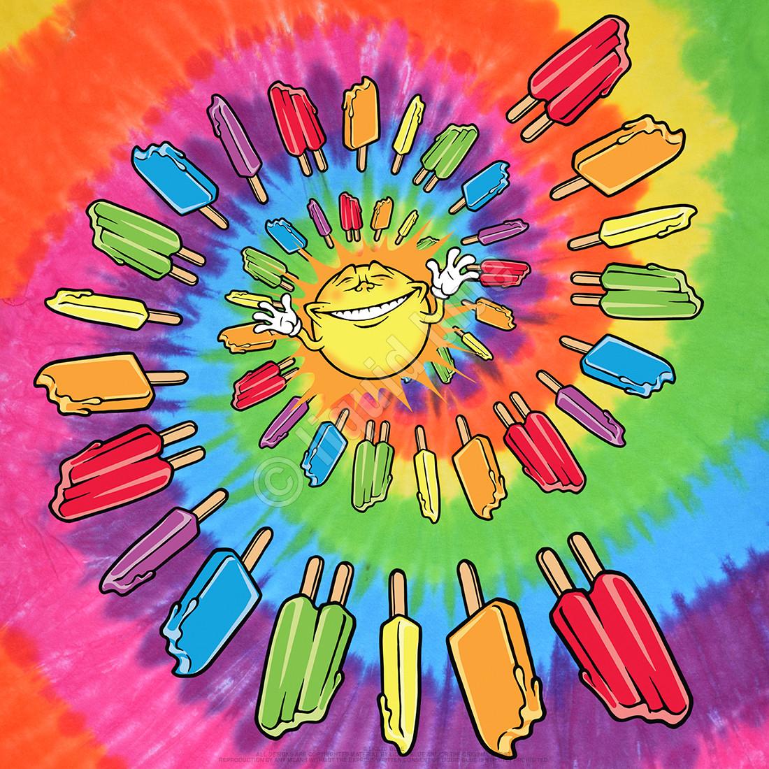 Popsicle Spiral Tie-Dye T-Shirt