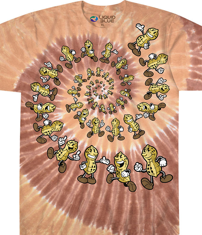 Peanut Spiral Tie-Dye T-Shirt