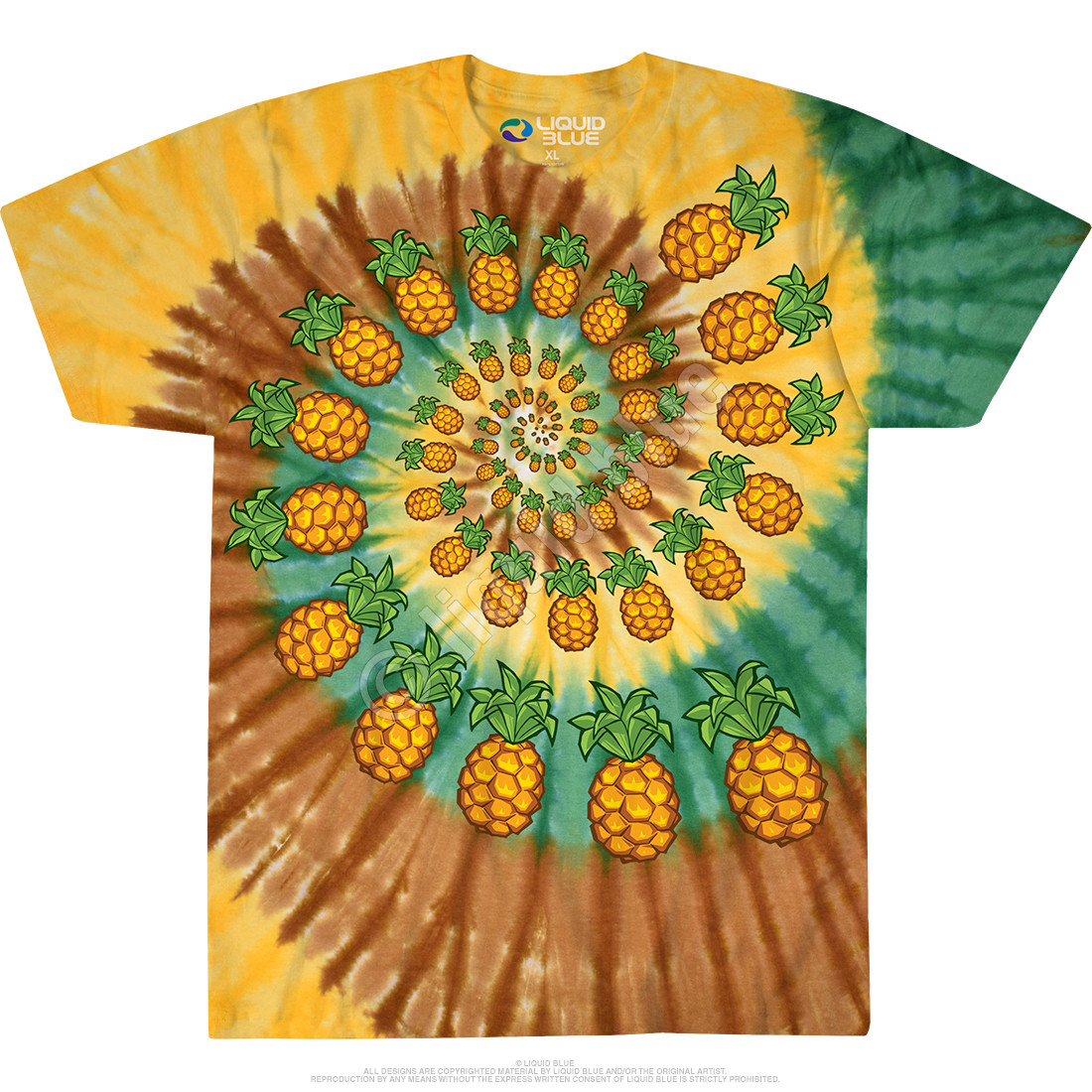 Pineapple Spiral Tie-Dye T-Shirt