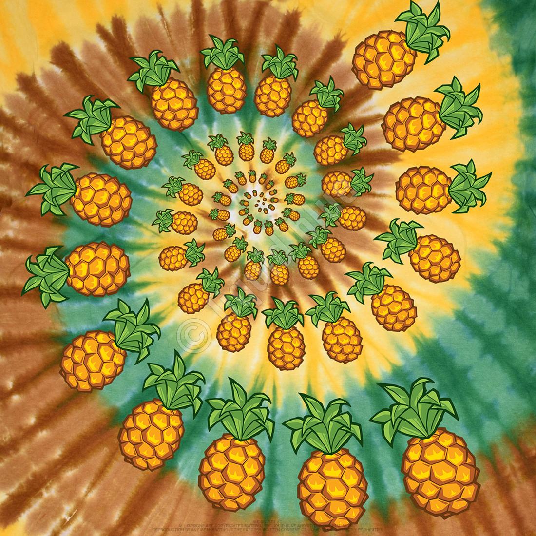 Pineapple Spiral Tie-Dye T-Shirt