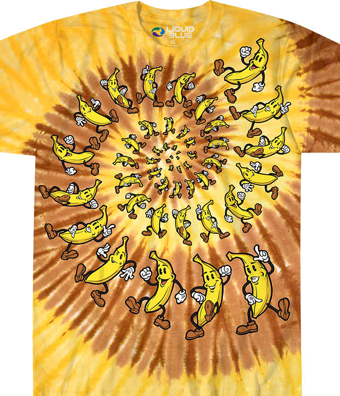 Banana Spiral Tie-Dye T-Shirt