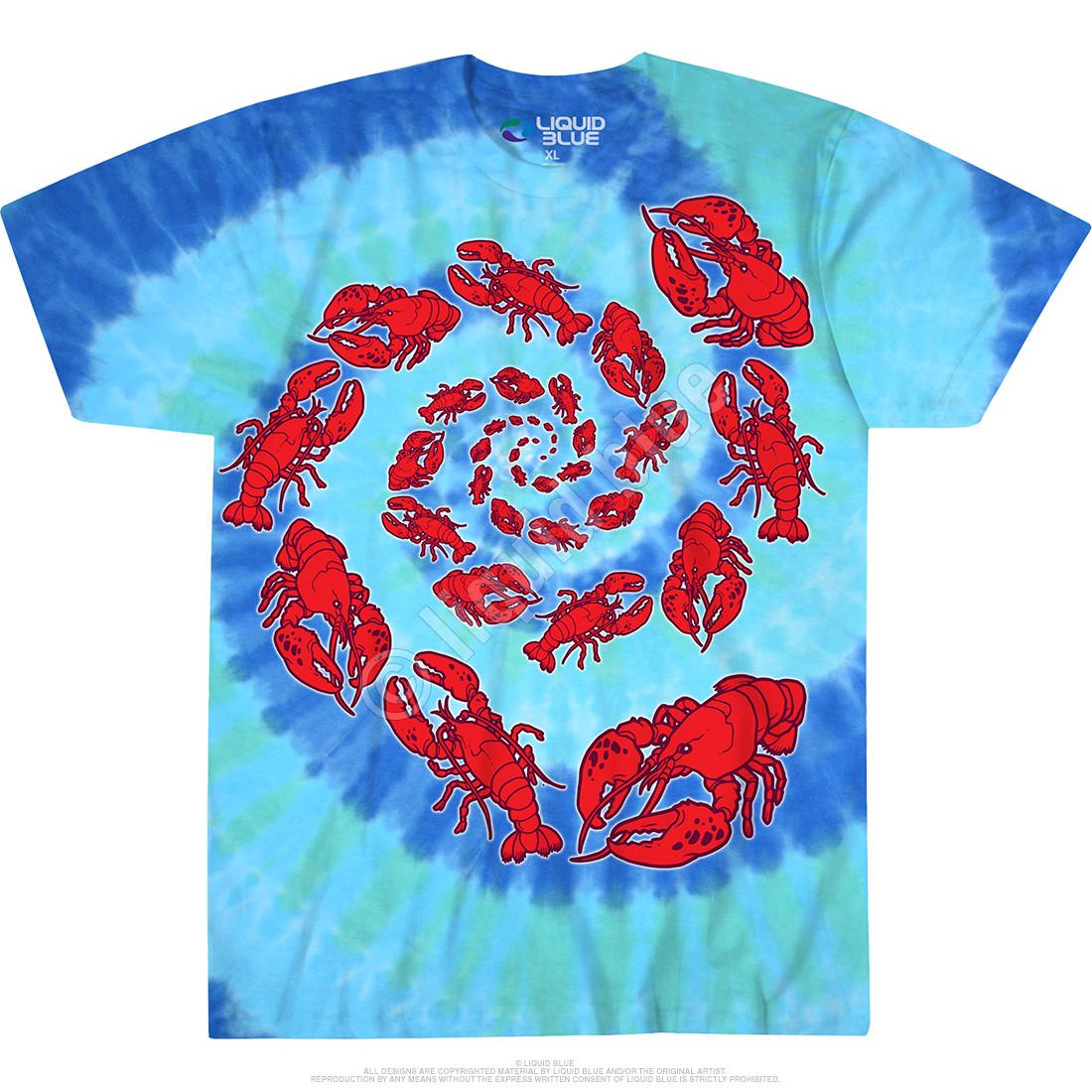 Lobster Spiral Tie-Dye T-Shirt