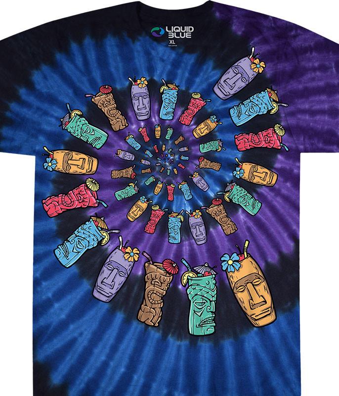Tiki Spiral Tie-Dye T-Shirt
