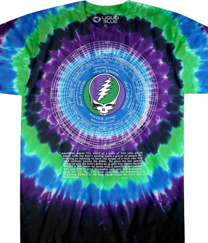 Calendar Tie-Dye T-Shirt